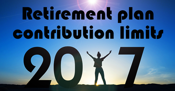 Few changes to retirement plan contribution limits for 2017